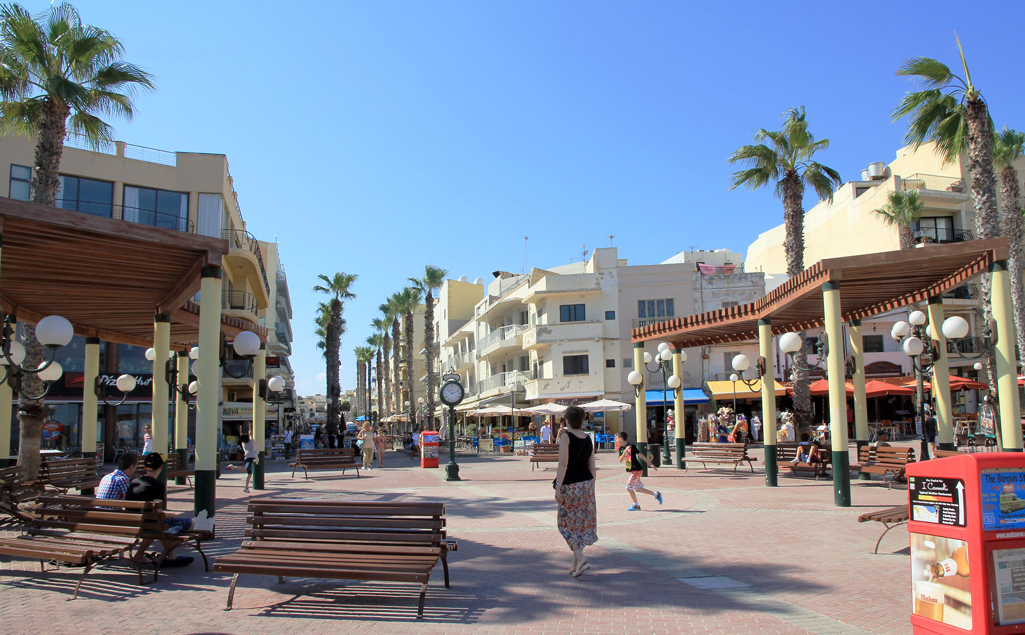 Bugibba Main Square, St. Paul's Bay, Malta